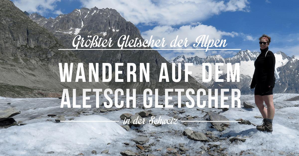 Wanderung auf dem Aletsch Gletscher