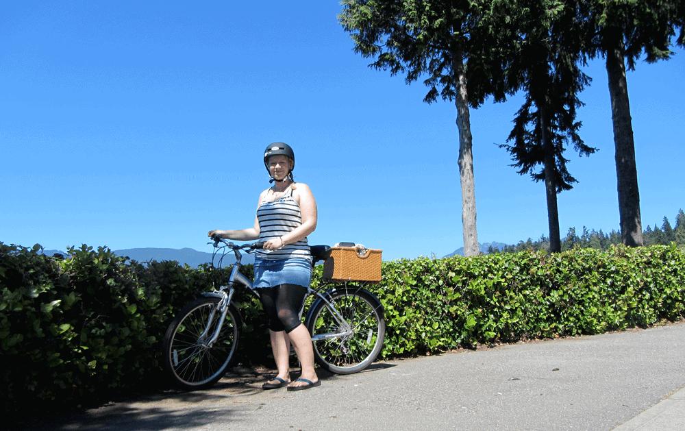 Damals ging es noch mit dem Fahrrad an der Seawall entlang. Heute träume ich davon dort lang zu laufen