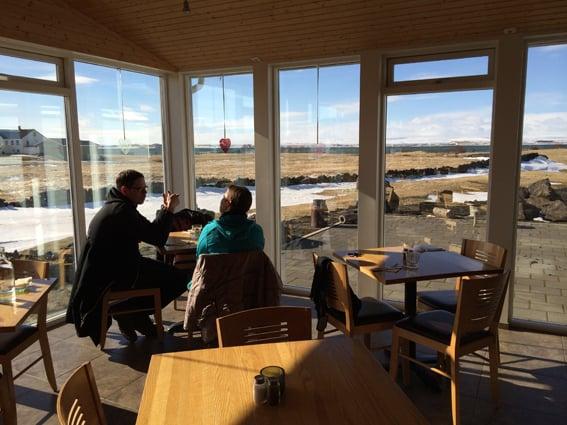 Ausblick des Cafe Vogafjos