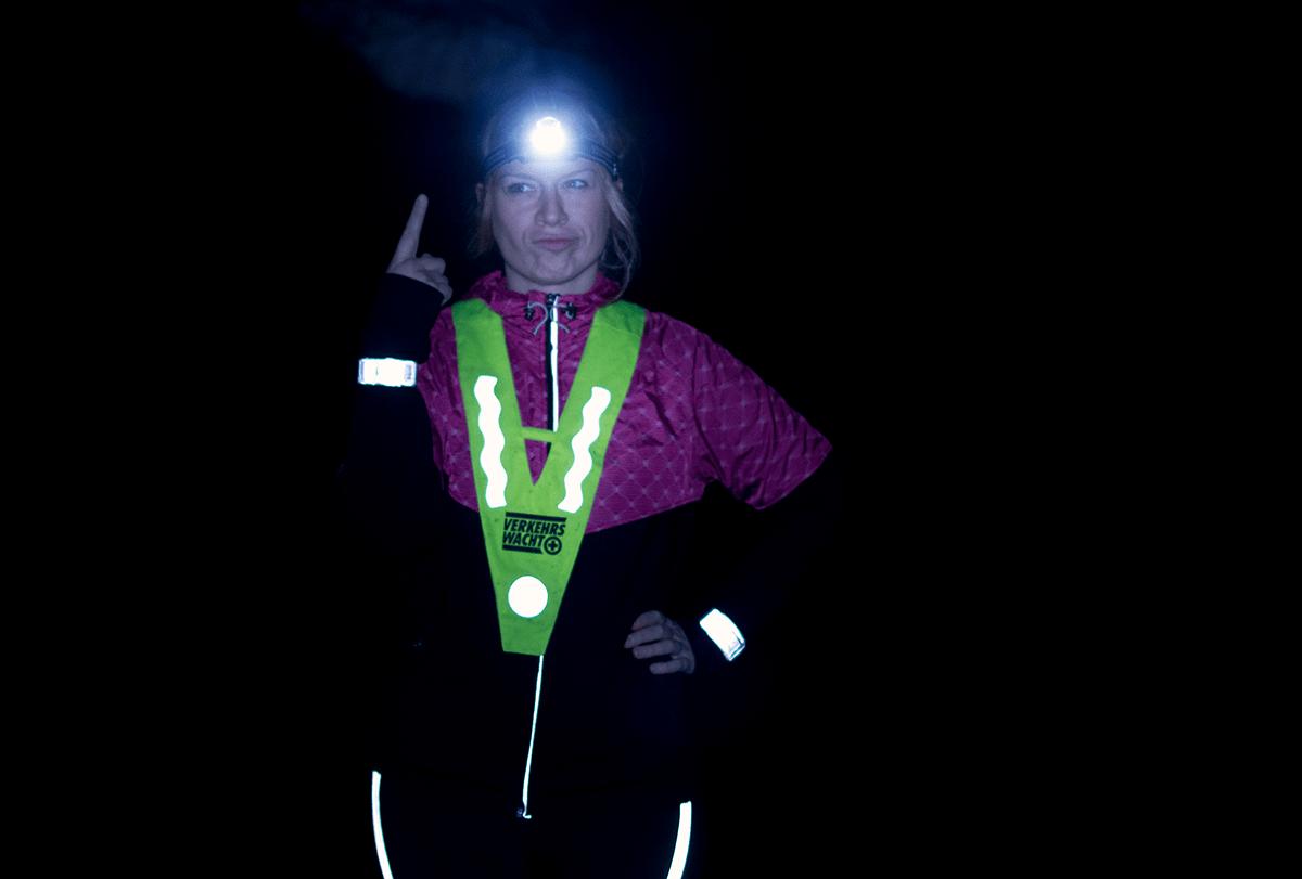 Laufen im Winter und bei Dunkelheit: Stirnlampe