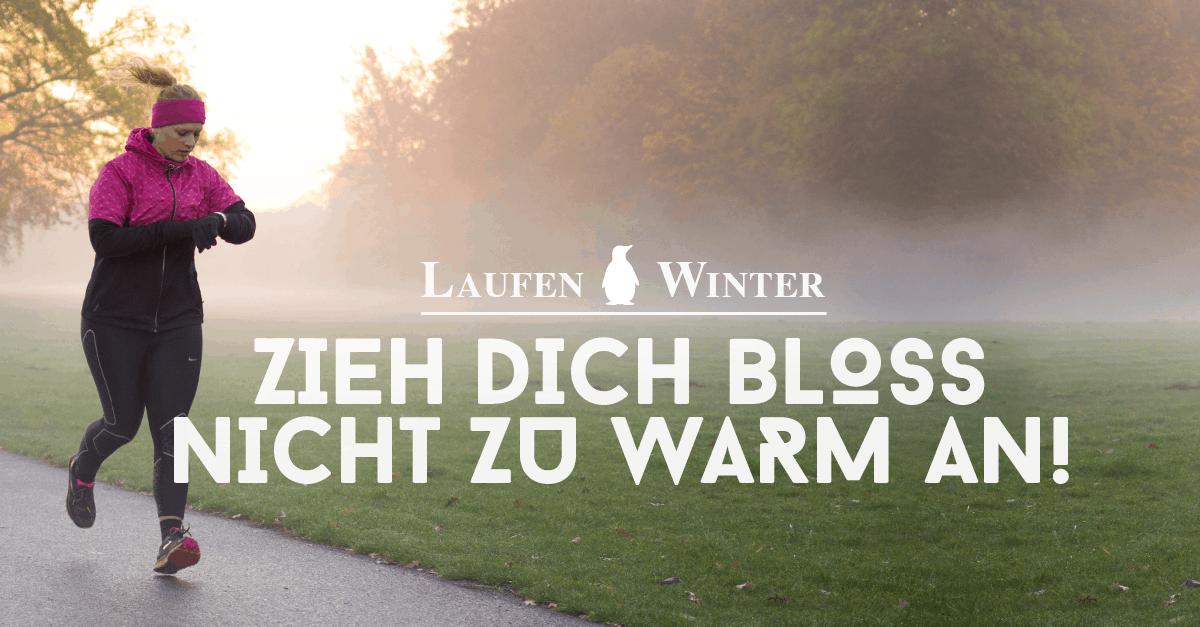 Sieht Laufbekleidung – Richtige So Das Winter Laufoutfit Im XukTPiOZ
