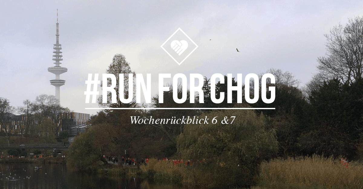 #RunForCHoG-Spendenlauf: Woche 6 & 7