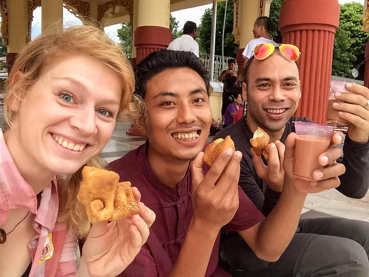 Freunde in Yangon