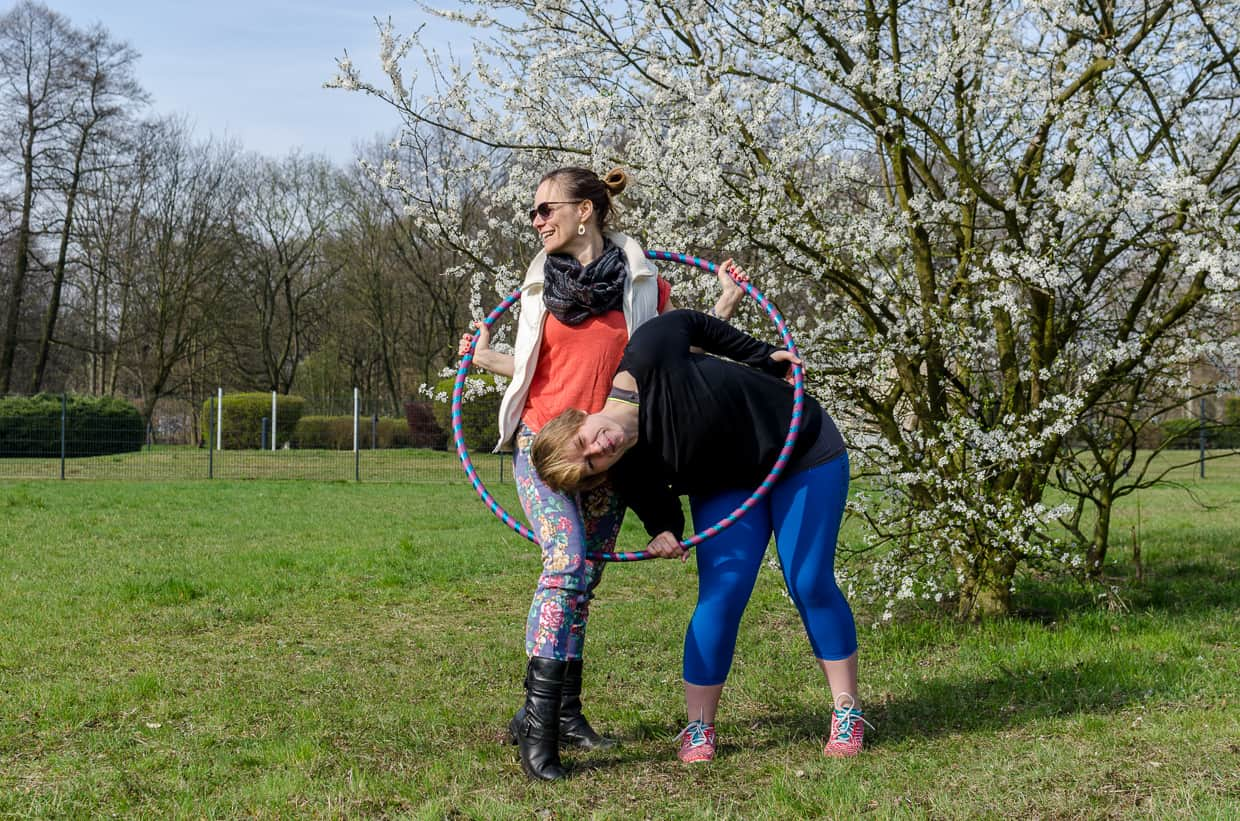 Hula-Hoop Workout mit Synke