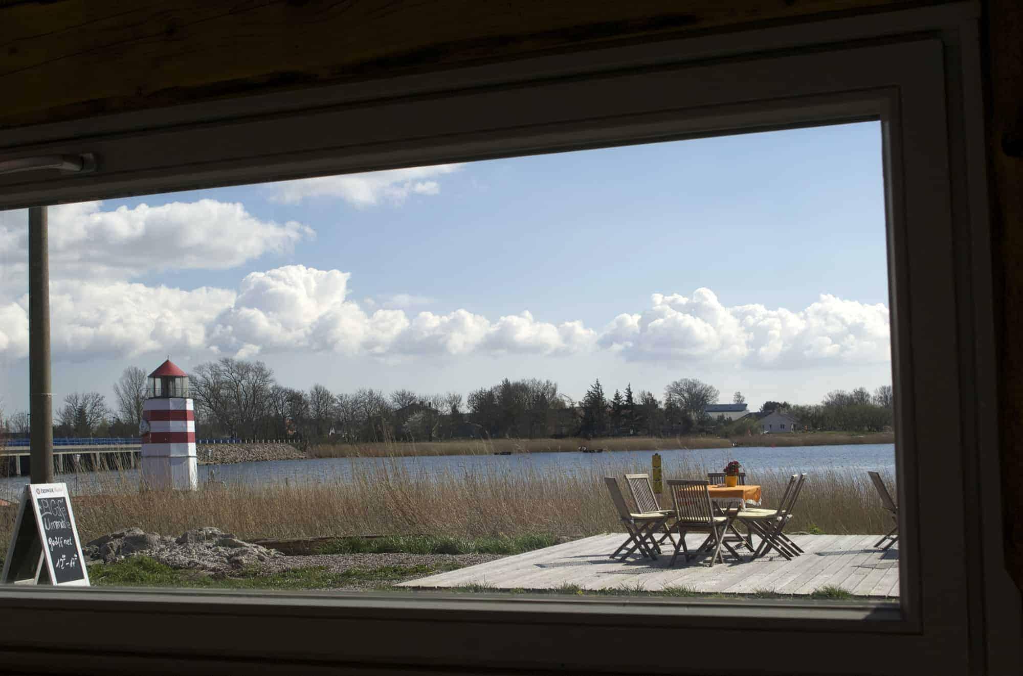Ausblick Leuchtturm Café Ummanz