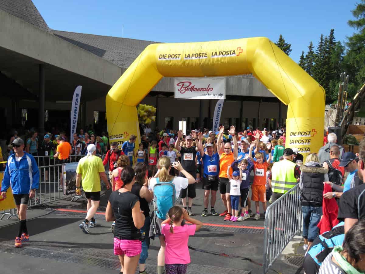 Kinderlauf beim Aletsch Halbmarathon 2015