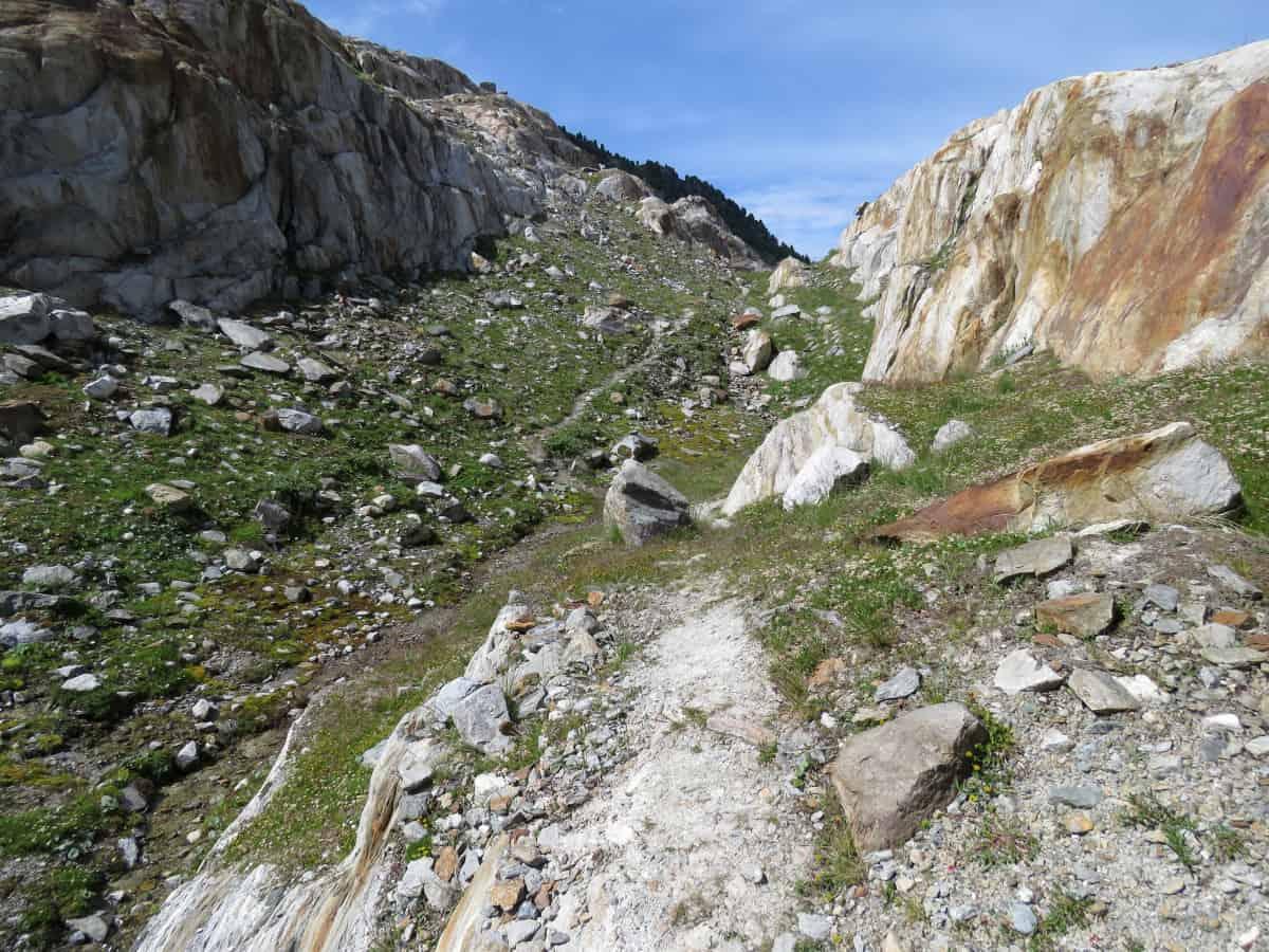Einstiegsweg auf den Aletschgletscher