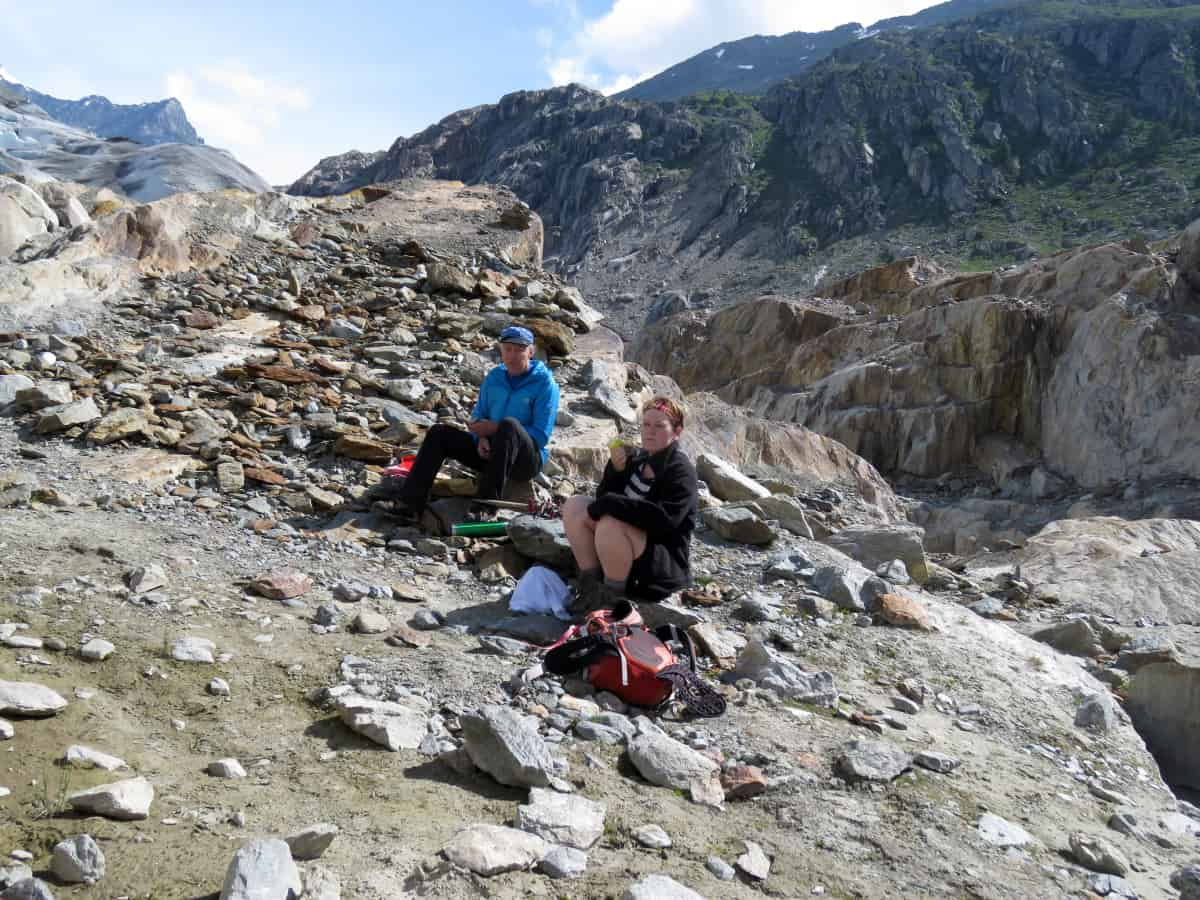Pause am Gletschgletscher