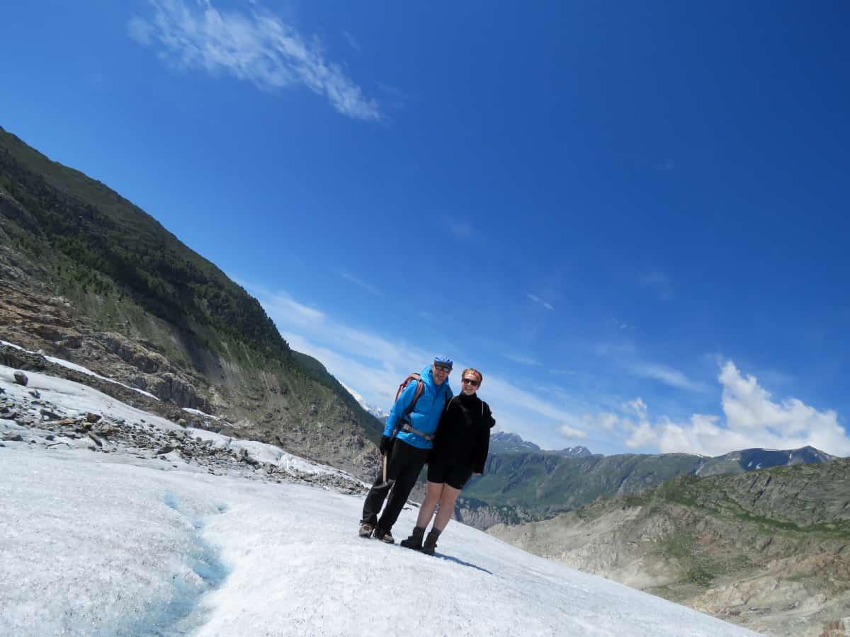 Mit Peter Stucky auf dem Aletsch Gletscher