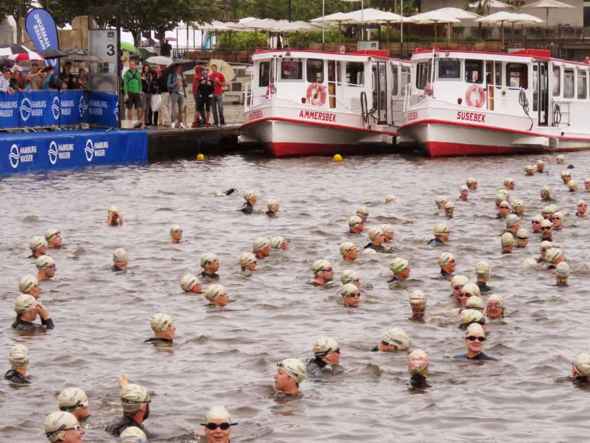 Feuer und Flamme World Triathlon Hamburg 2015