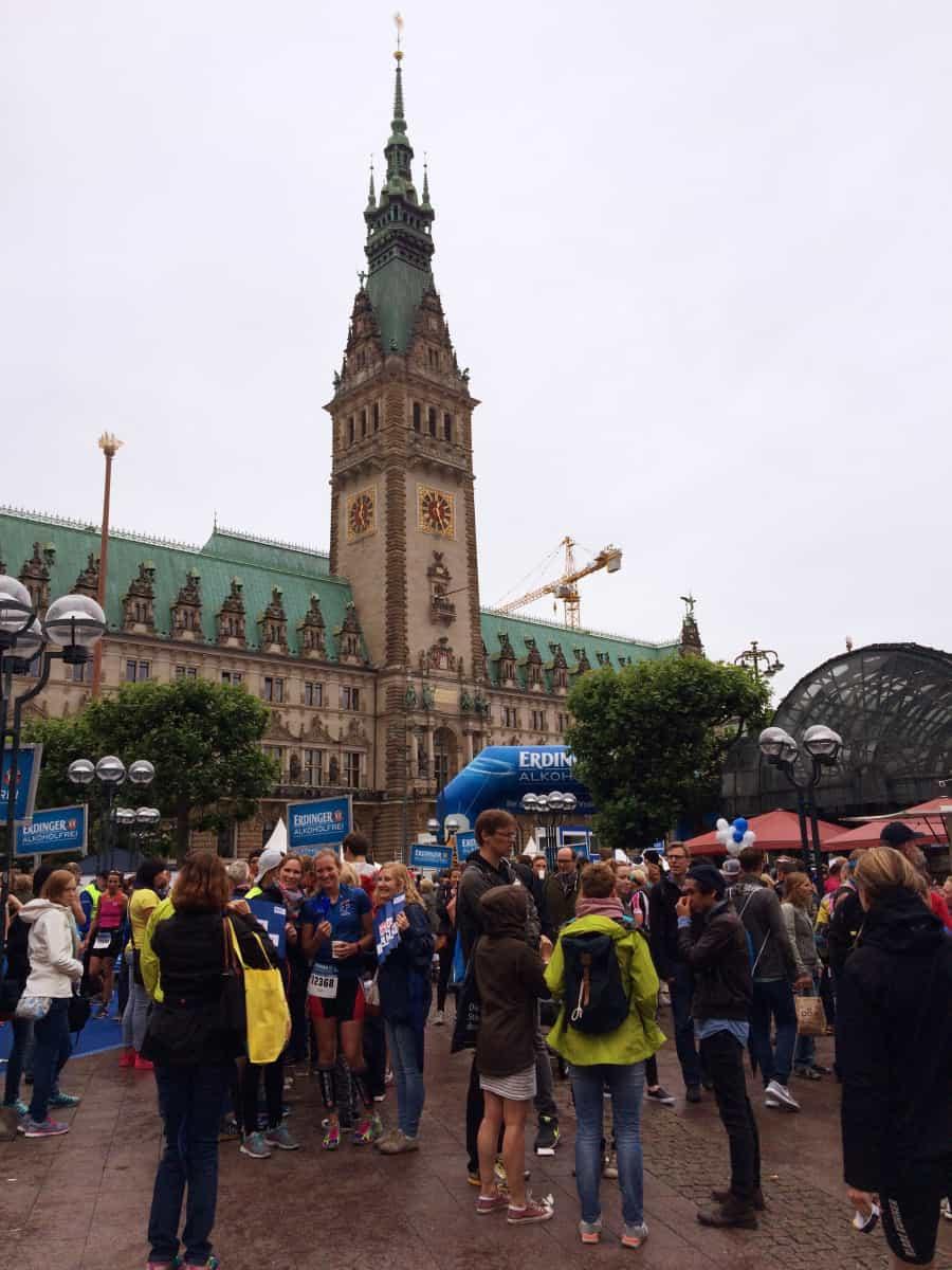 Ziel Feuer und Flamme World Triathlon Hamburg 2015