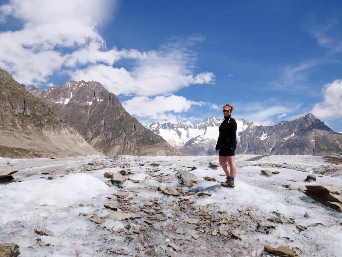 Gletscherwanderung in der Schweiz