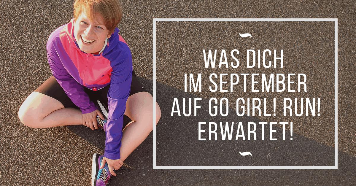 Was Dich im September auf Go Girl! Run! erwartet –Vom E-Book über eine geheime Städtereise zum Geburtstagsgewinnspiel