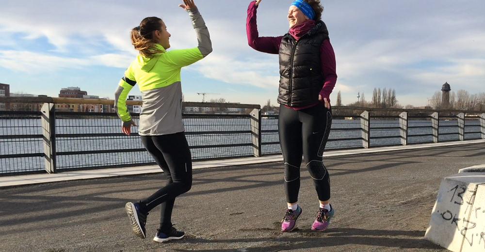 Laufen mit Trainingspartner