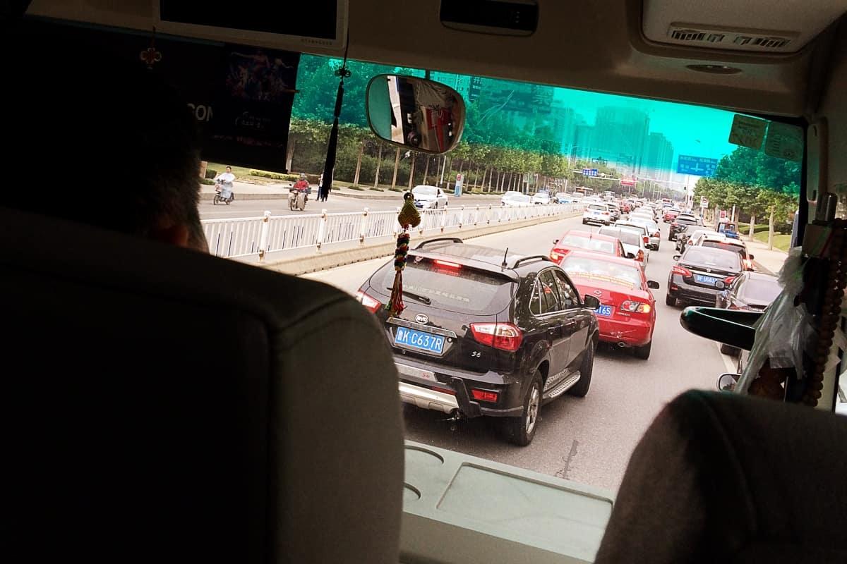 Stadtverkehr in Yantai