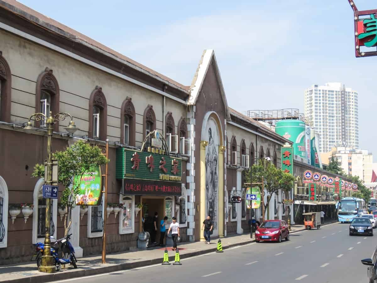 Bierstraße in Qingdao