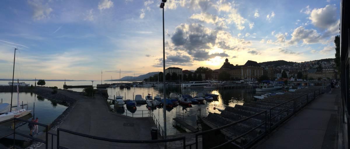 Sonnenuntergang in Neuchâtel