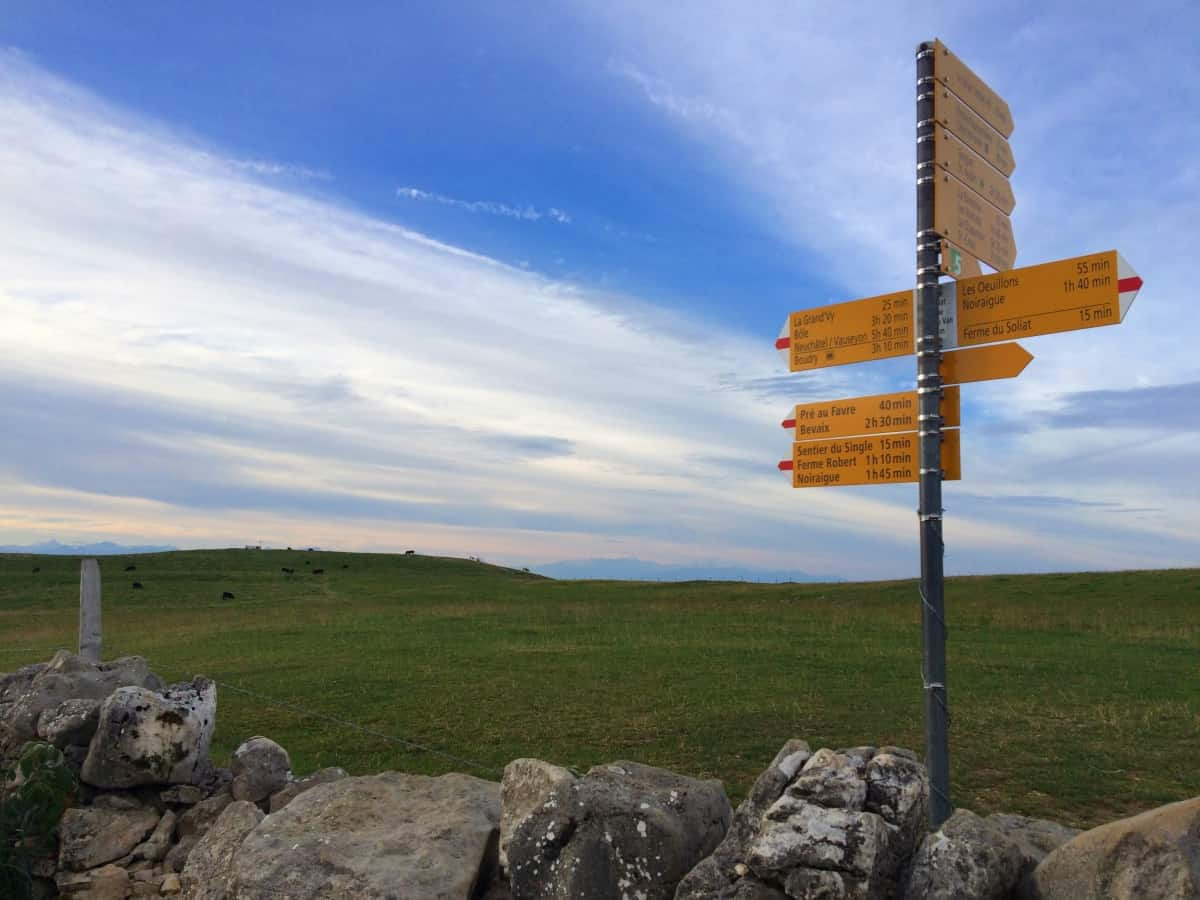 Wanderwege im Jura und Drei-Seen-Land