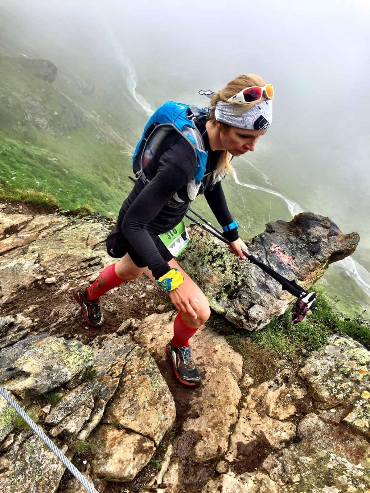 Maty bei ihrem bisher härtesten Rennen, dem Pitztal Alpine Trail