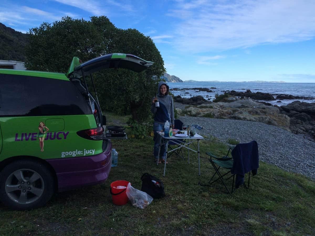 Campen at Marfelles Beach