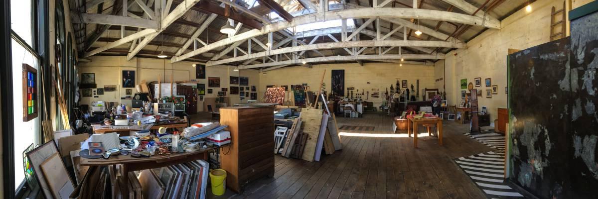 Künstlerateliers im Hafenviertel von Oamaru
