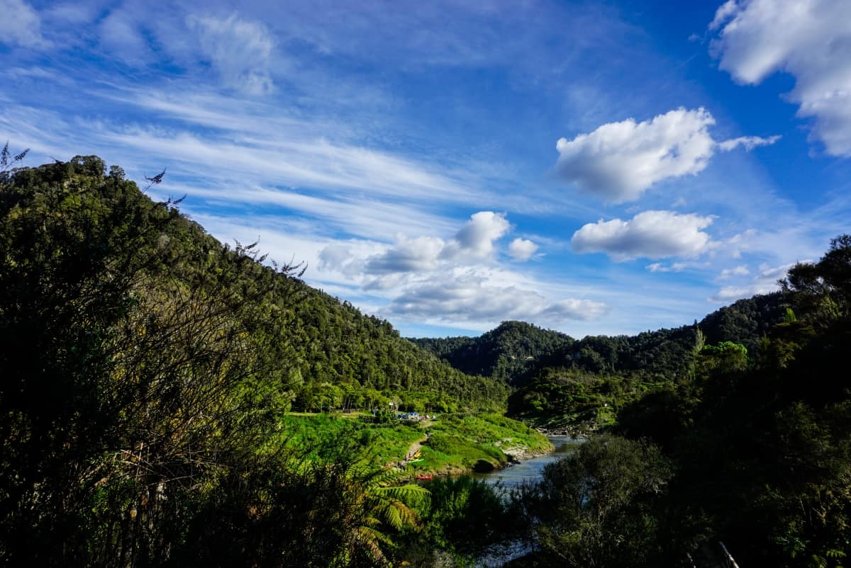 Ausblick auf Tieki Kainga