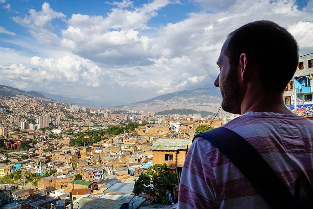 Ausblick auf die Comuna 13 in Medellín