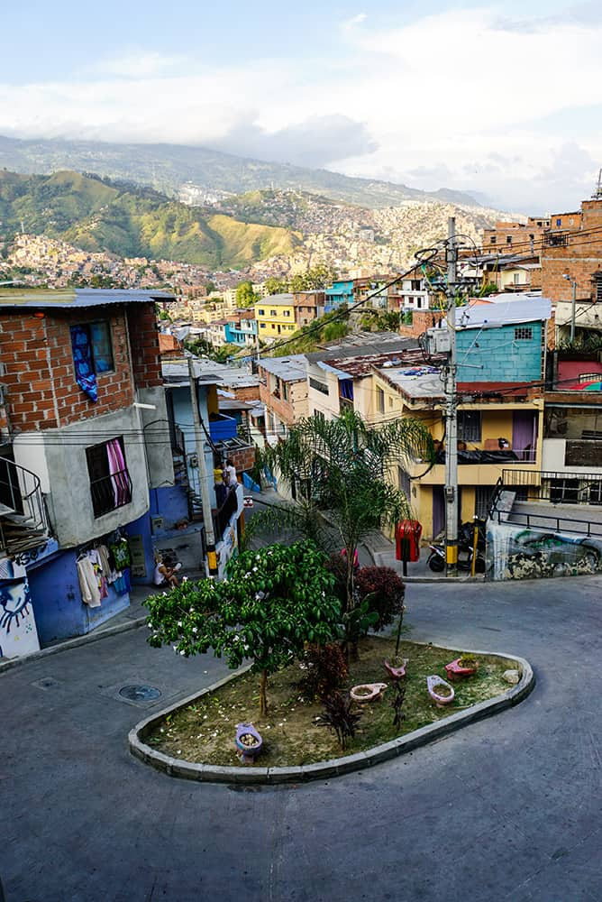Ausblick in der Comuna 13