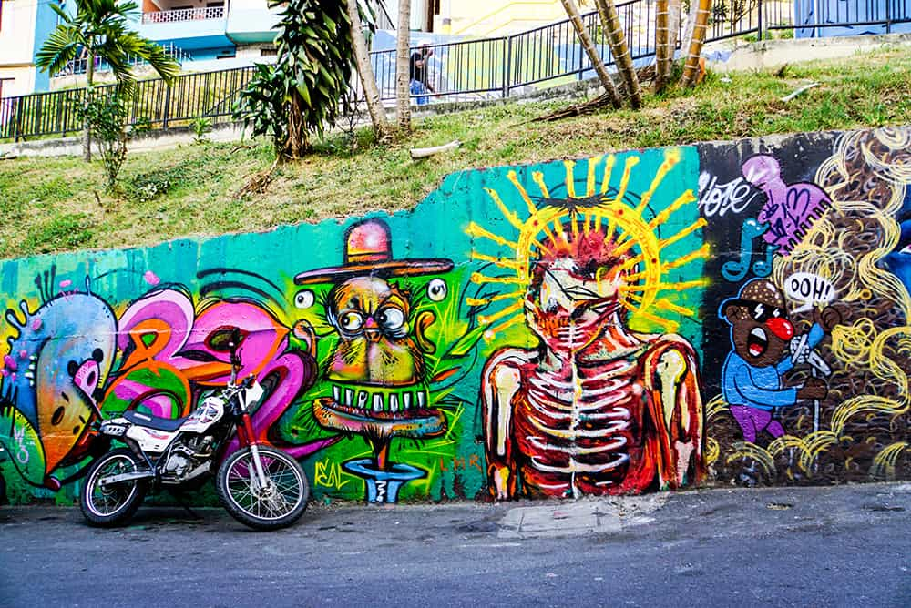 Graffitis in der Comuna 13 in Medellín