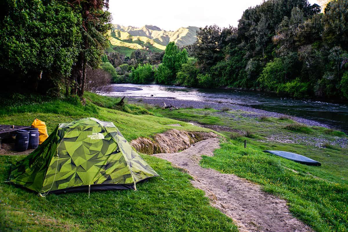 Camping am Whanganui River