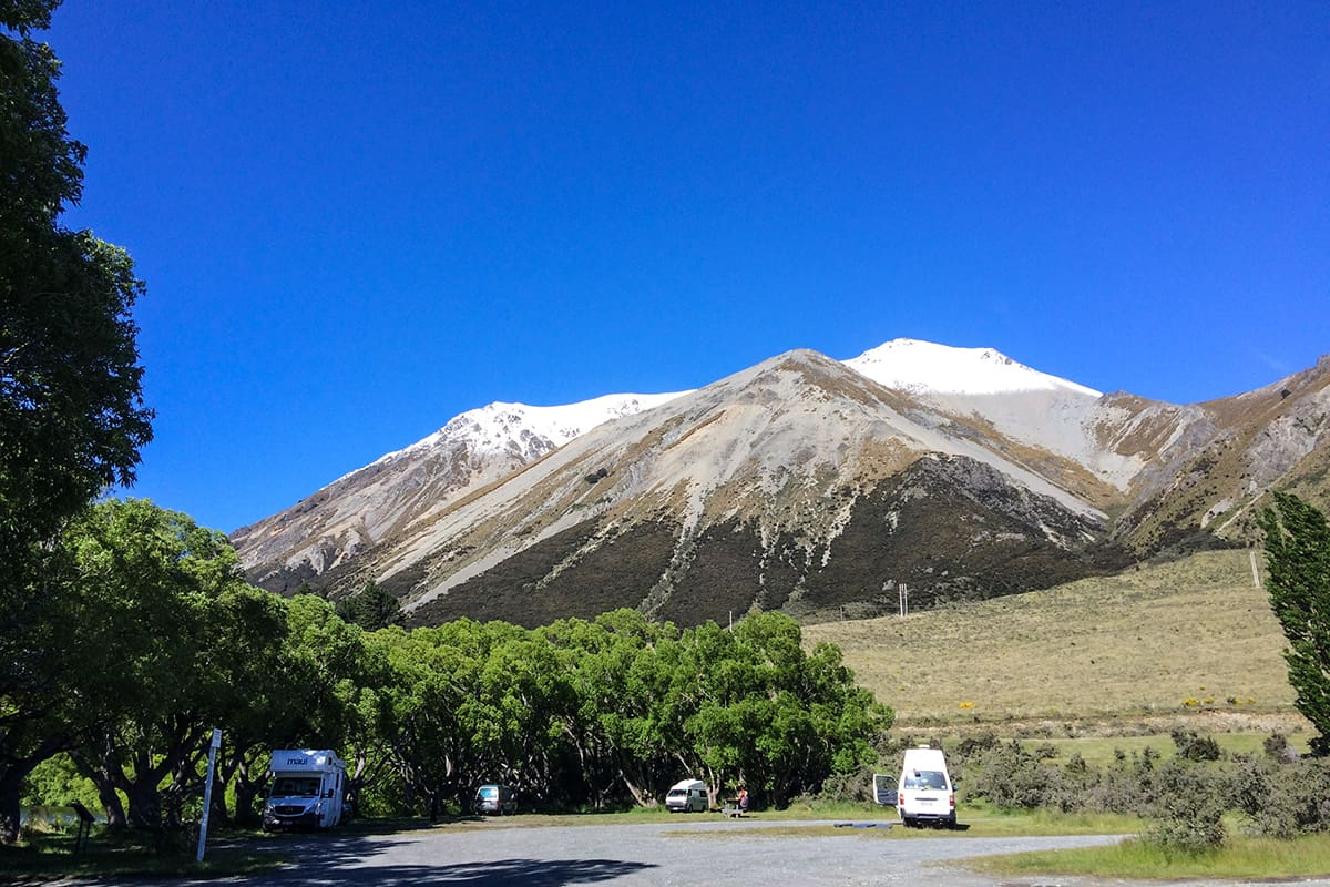 Freedom Campingplatz beim Arthurs Pass