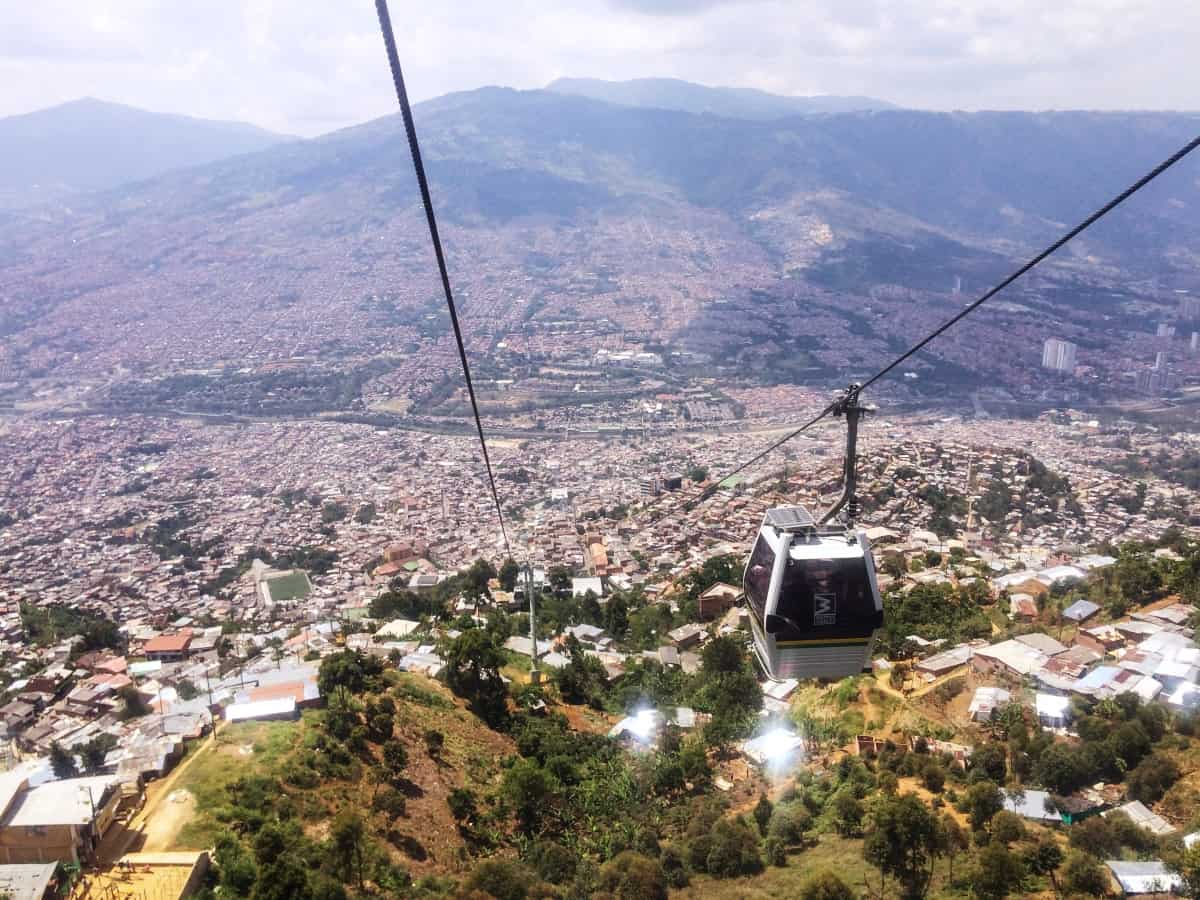 Gondelfahrt über Medellín