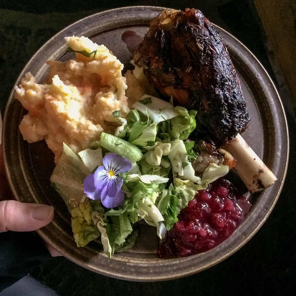 Abendessen bei Sygard Grytting