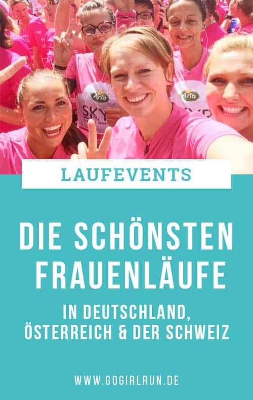 Die schönsten Frauenläufe in Deutschland, Österreich oder der Schweiz
