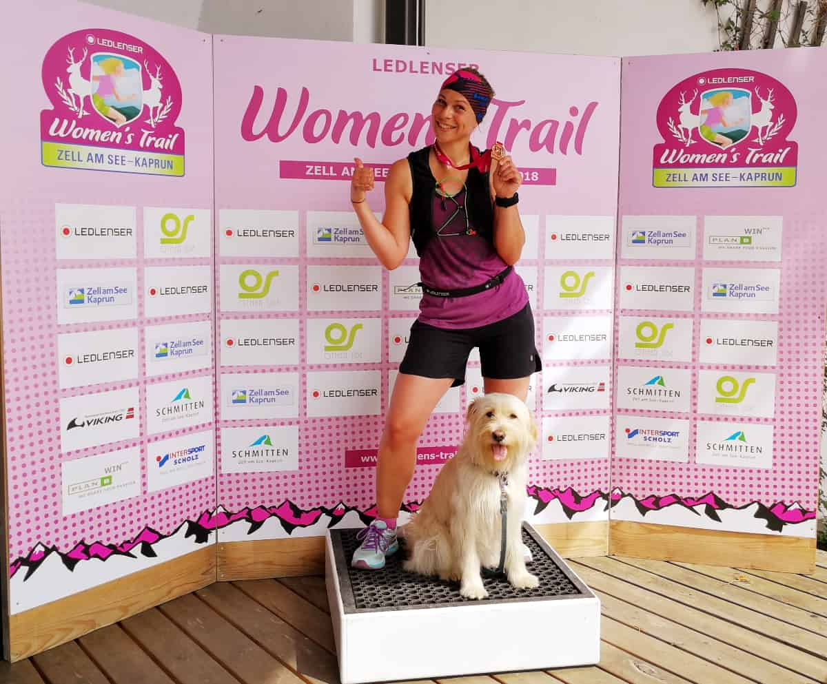 Finish beim Women's Trail