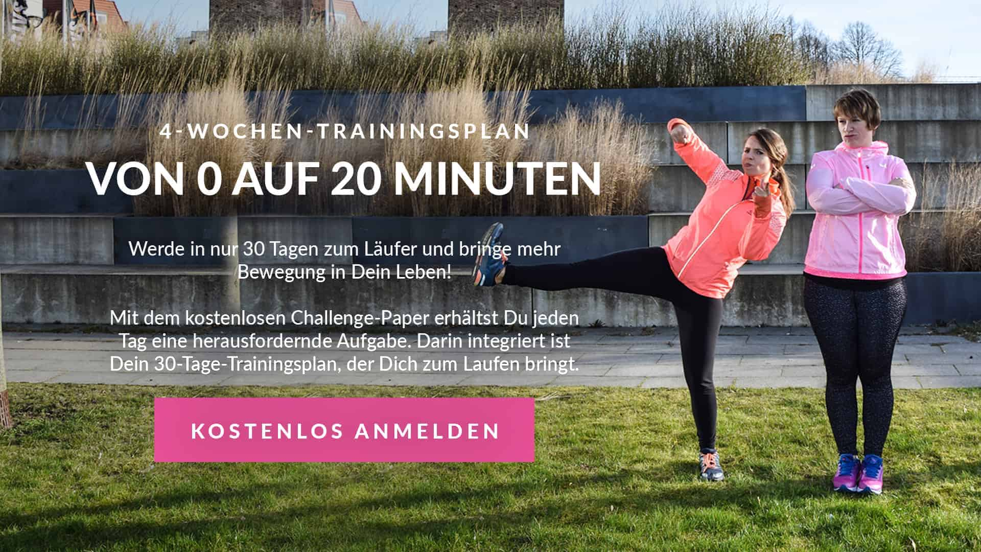 4-Wochen-Trainingsplan für Laufanfänger