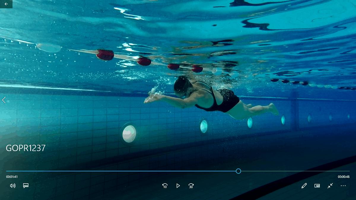 Videoanalyse beim Schwimmen