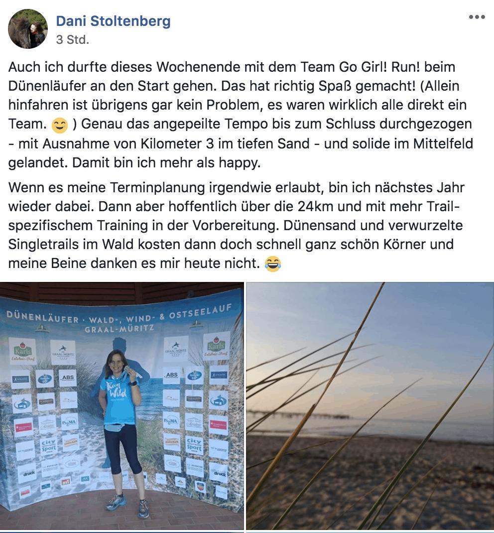 #TeamGoGirlRun zum Dünenläufer 2019 – Anmeldung