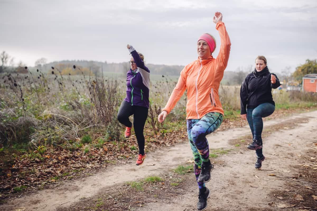 Lauf-ABC-Übungen beim Laufwochenende