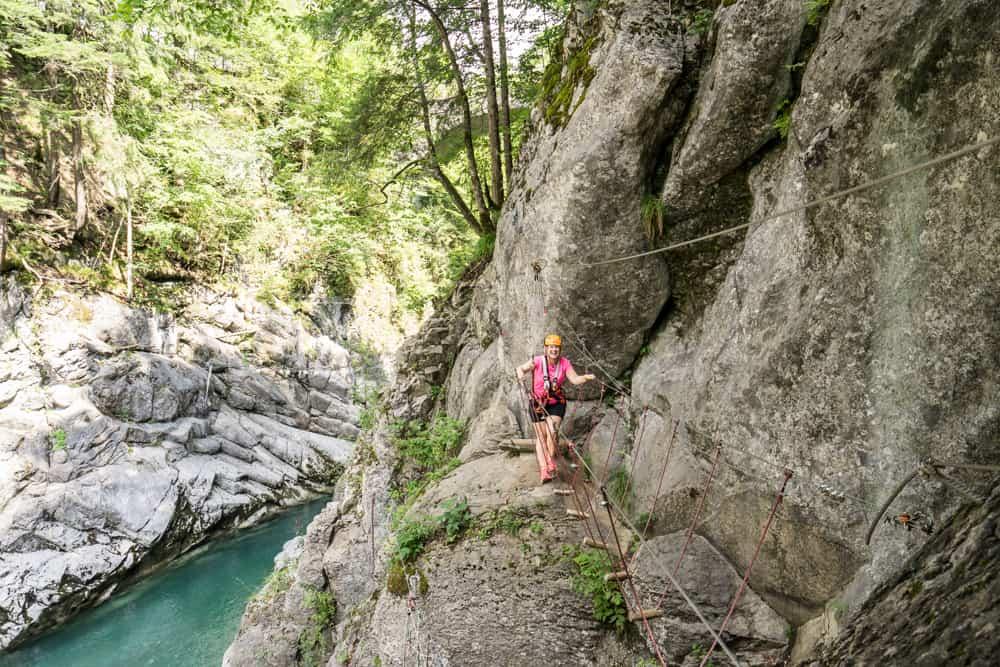 Klettern im Aqua Hochseilgarten