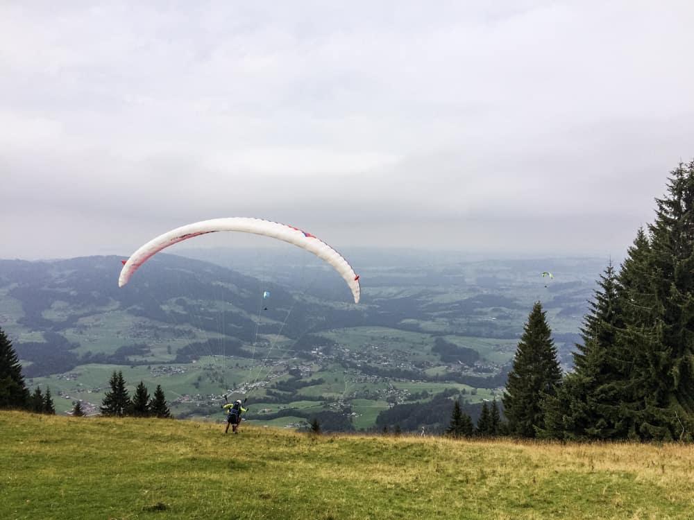 Paragliden im Bregenzerwald