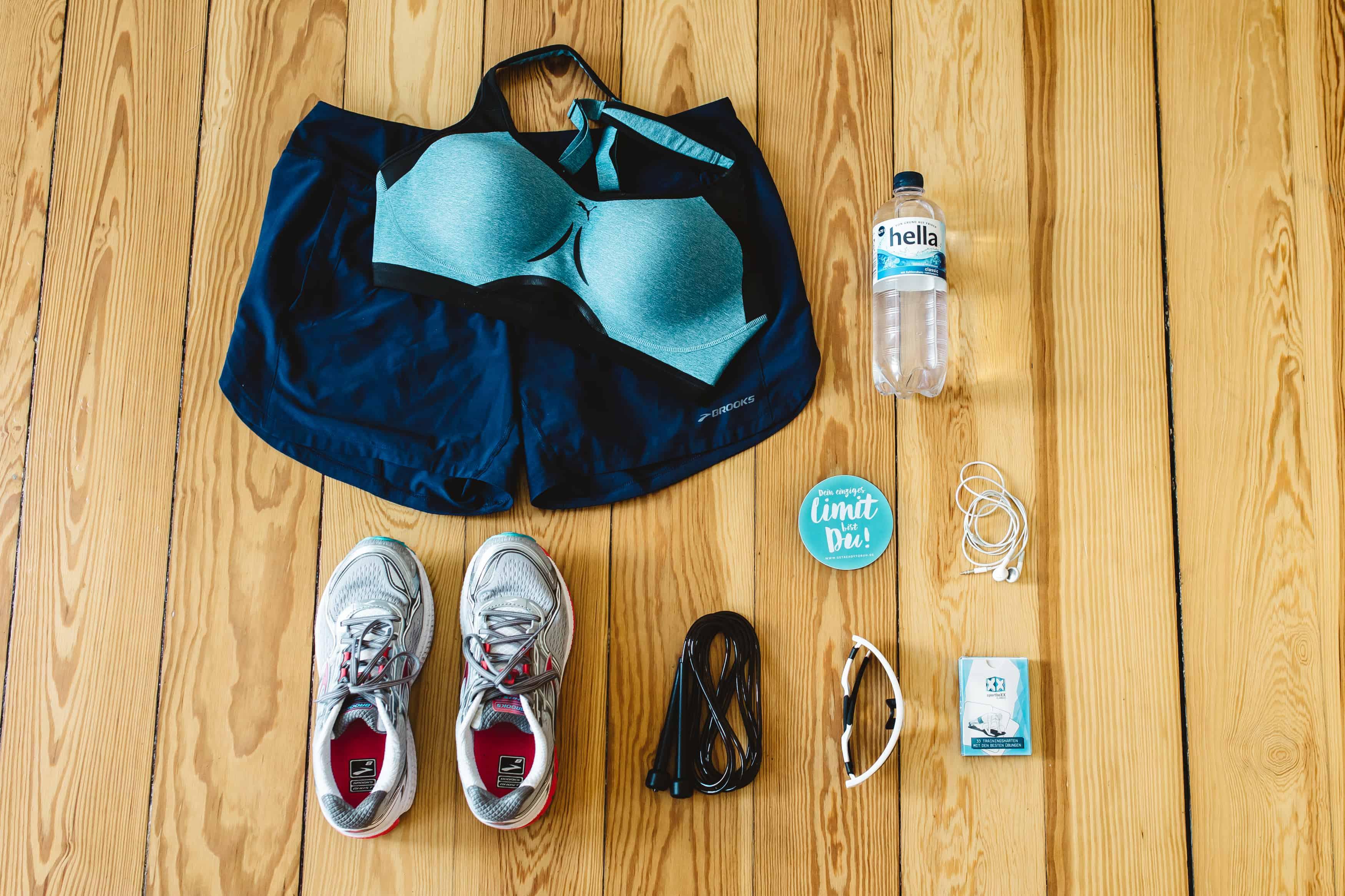 Ausrüstung für Sport auf Reisen