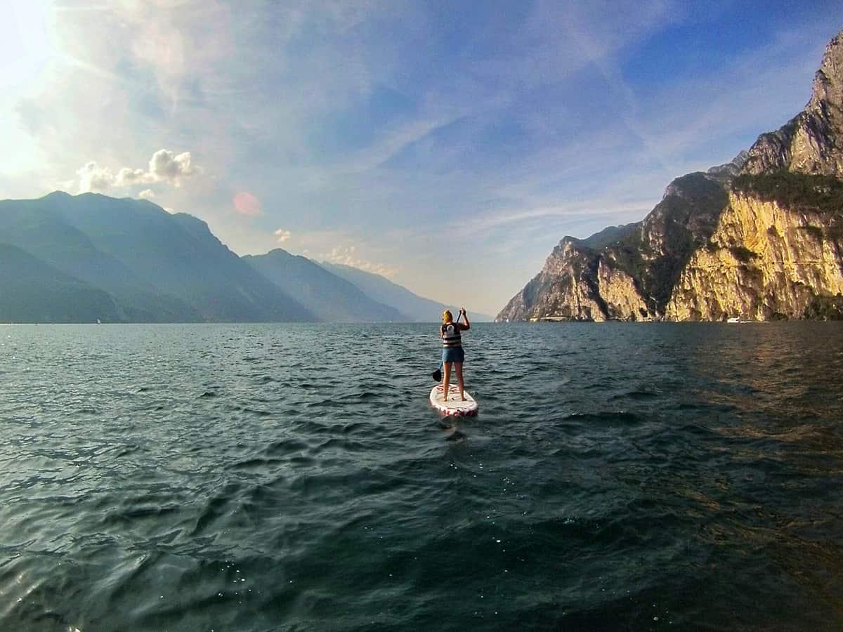 Standup-Paddling am Gardasee