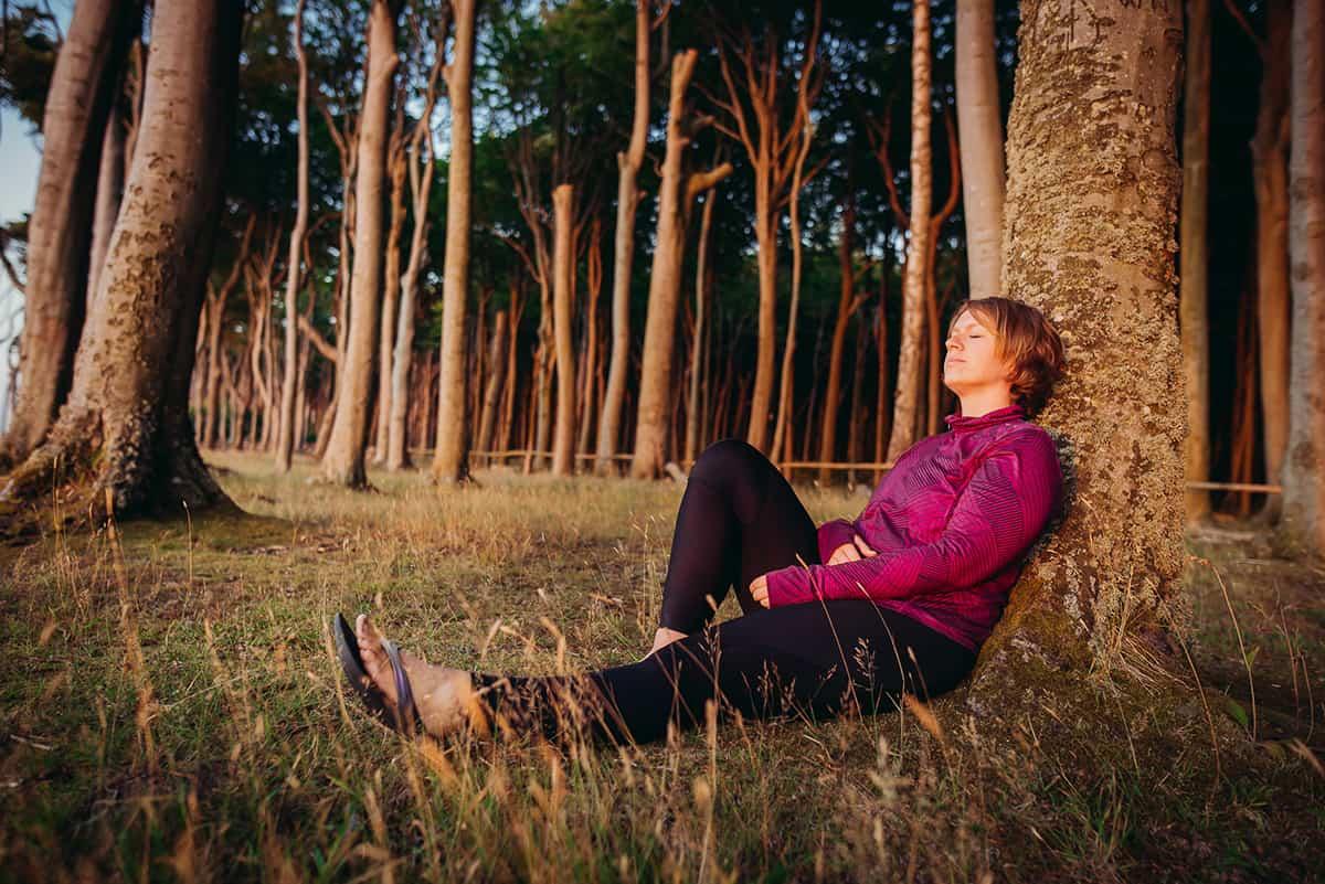 Entspannung nach dem Laufen