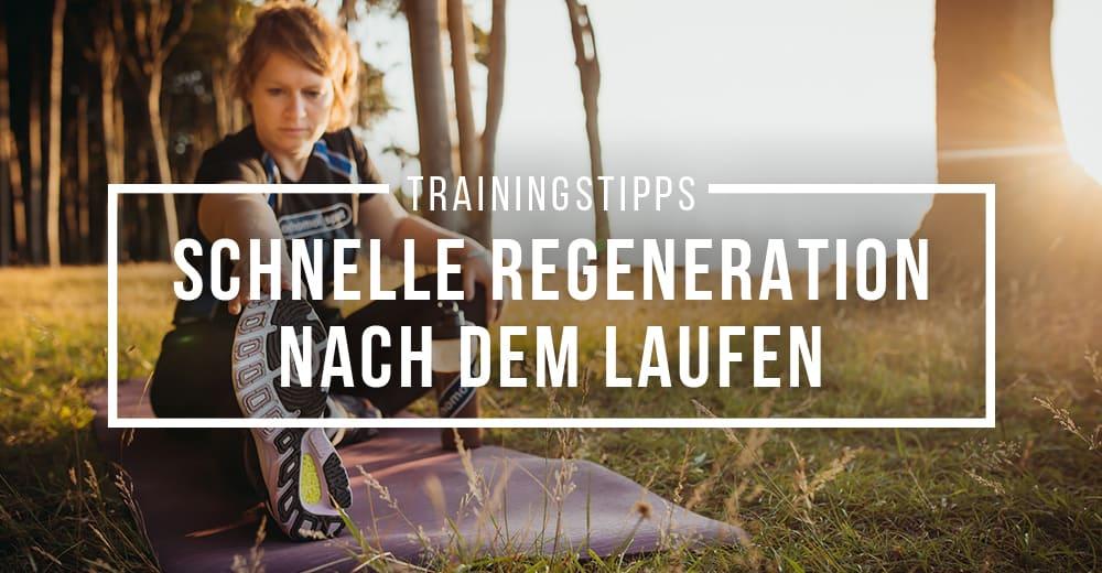 Schnelle Regeneration für Läufer