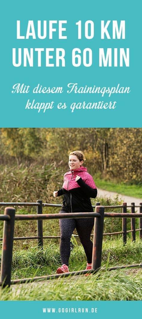 10-Kilometer-Trainingsplan unter 60 Minuten