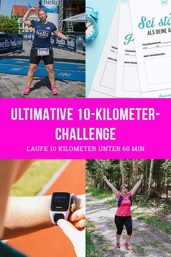 Trainingsplan für 10km unter 60min
